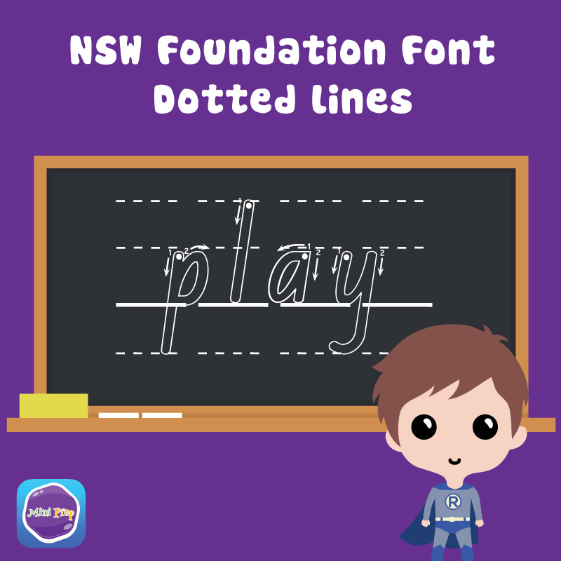 NSW Foundation Font Alphabet With Dotted Lines Worksheet ...