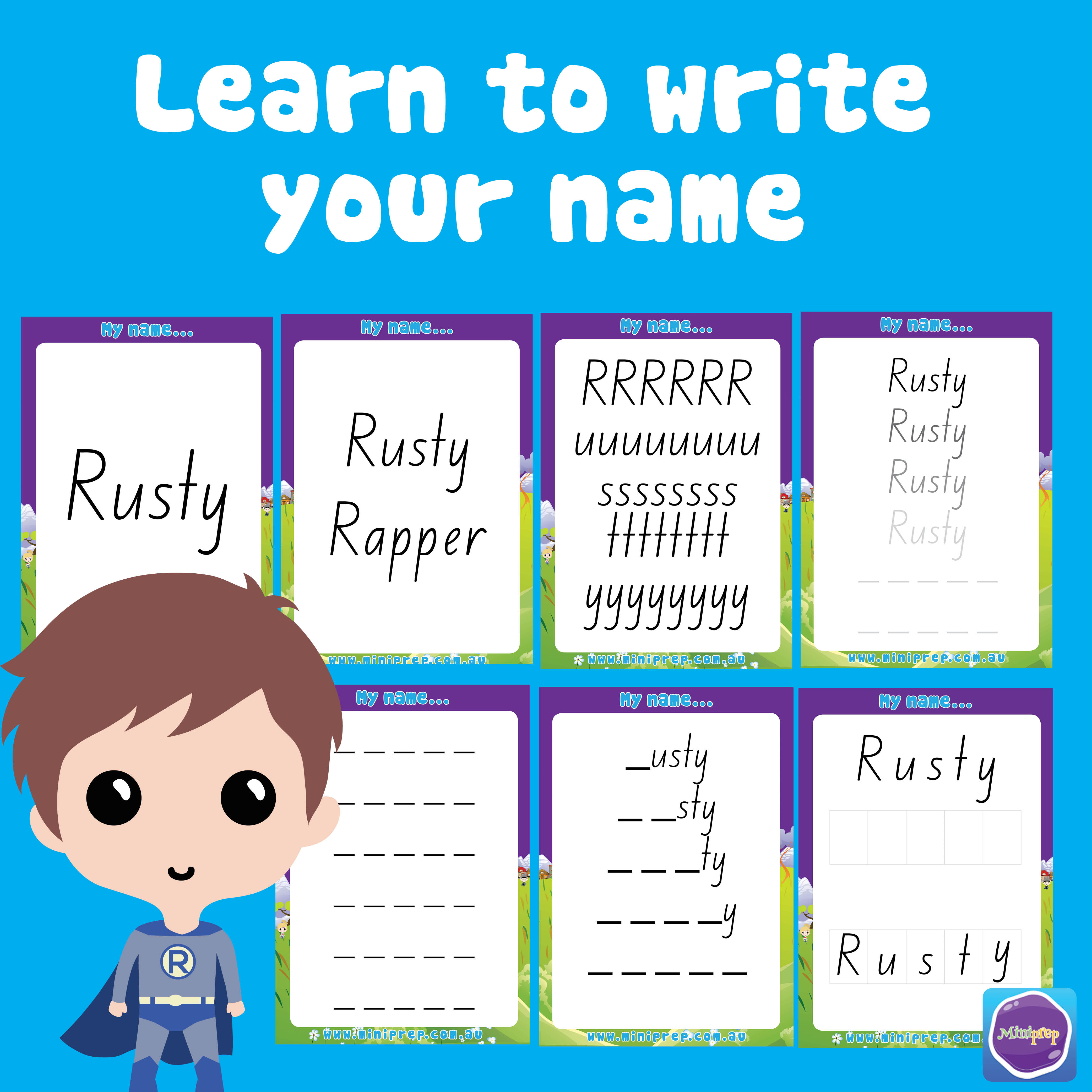 Learn To Write My Name Template NSW Foundation Font